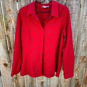 Sag Harbor blouse button down collared long sleeve